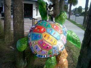 Bogart on a turtle  4-12-10