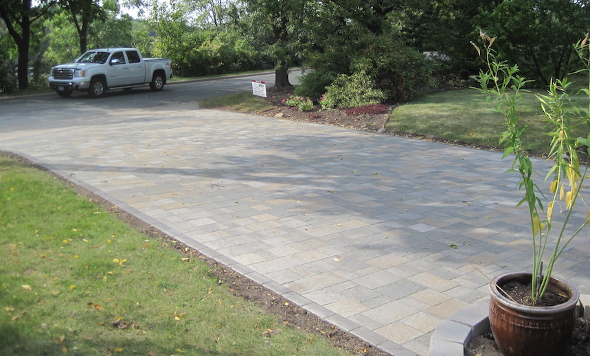 Paver Driveway view from Home