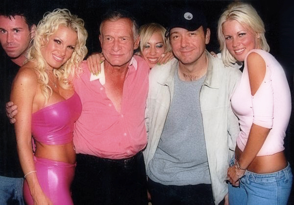 Hugh Hefner Kevin Spacey Playmates at Dennis's Party in BH