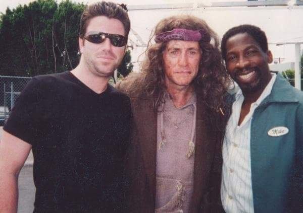 Gabriel Byrne Glenn Plummer on set of Shade