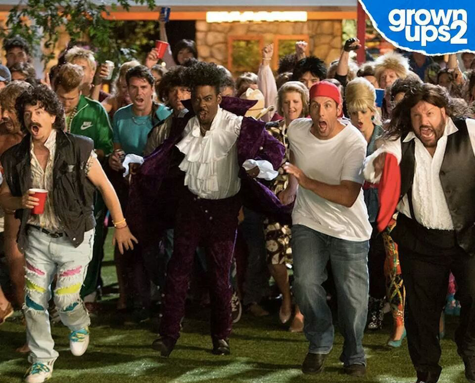 Grown ups 2 Spade, Pietrantonio, Rock, Sandler, James