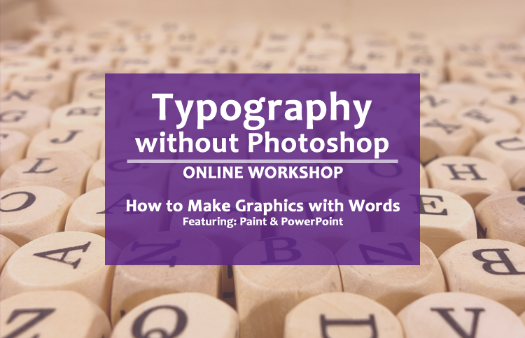 typography without photoshop