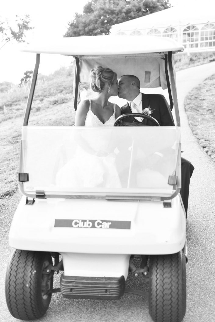 Raffaels wedding golf cart