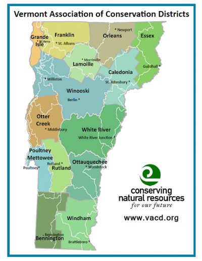 Vermont Association of Conservation Districts Map
