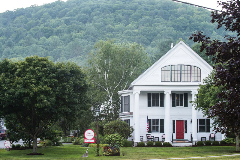 Elegant Country Lodging and Delicious Fare at the Vermont Four Columns Inn