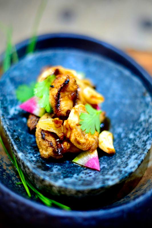 Roasted Lion's Mane Fungi and Fermented Garlic Honey Yummm Sauce (serves 4 – 6)