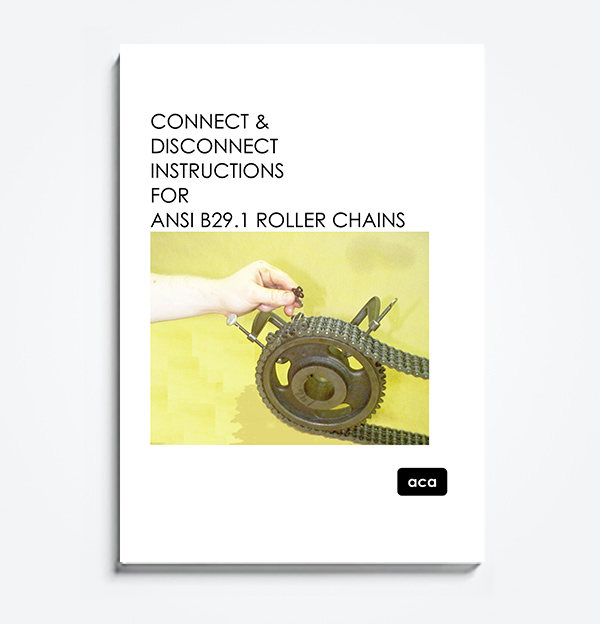 An image of the manual for Connect Disconnect instructions for ANSI B29.1 Roller Chains