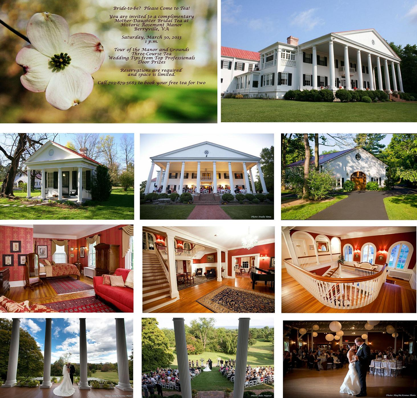 Mother-Daughter Bridal Tea…Historic Rosemont Manor