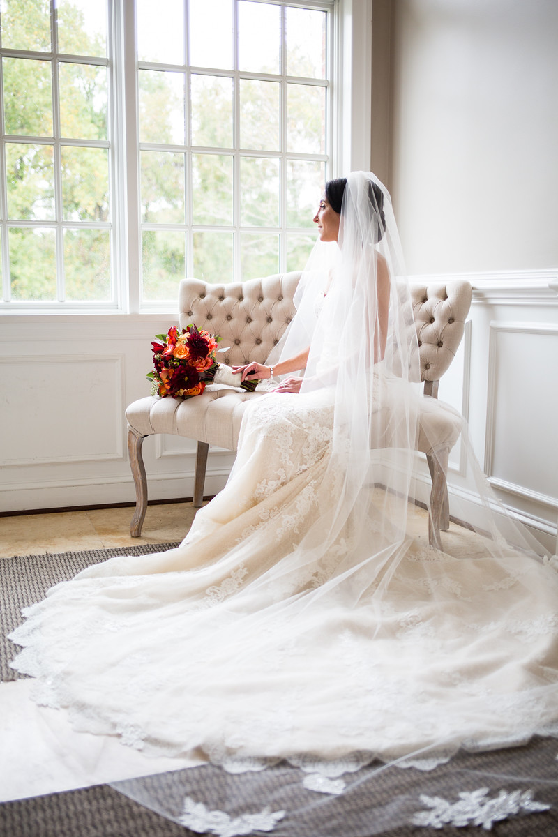 bridal portrait fall wedding by perfect planning events