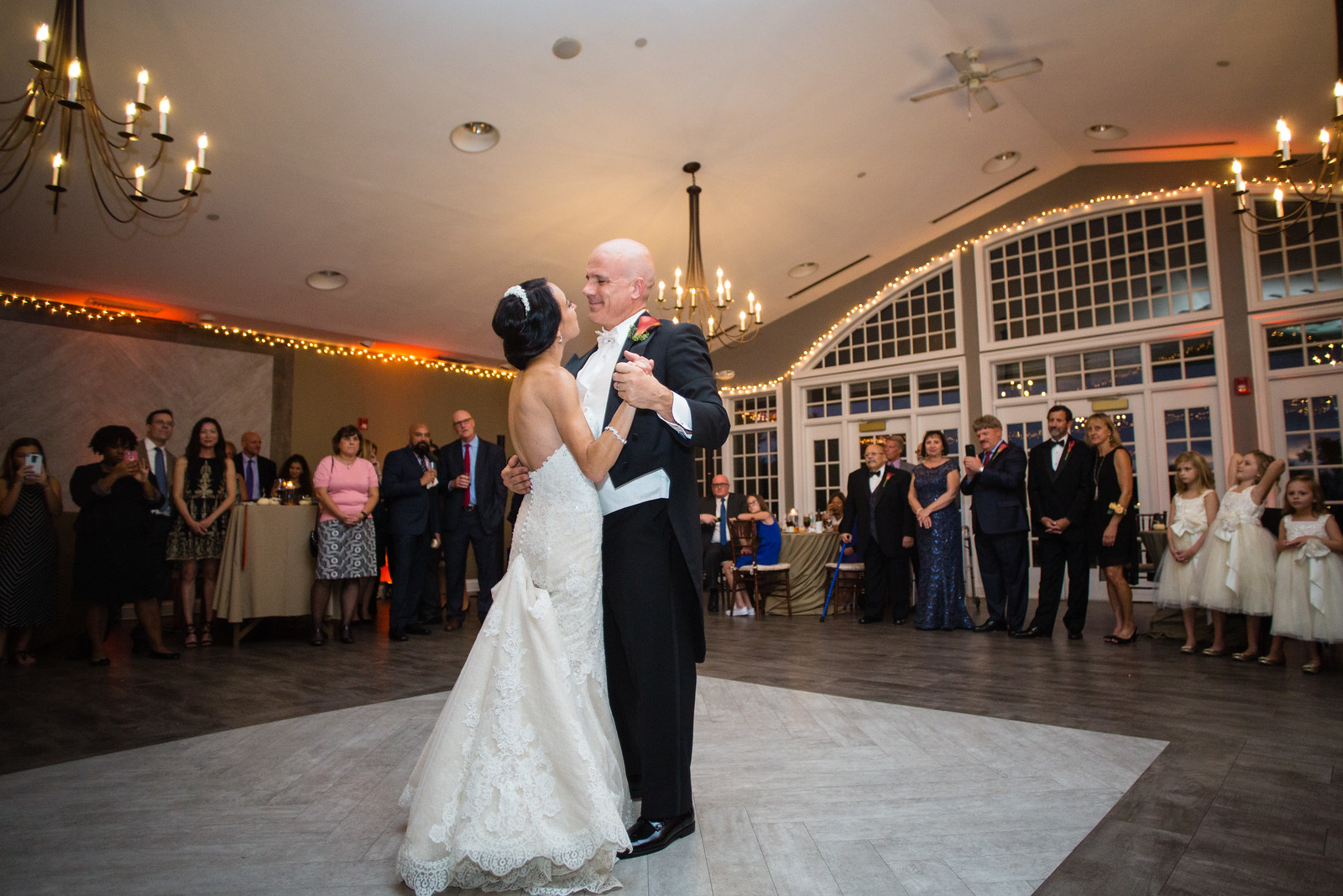 bride and groom first dance at weddings by perfect planning events