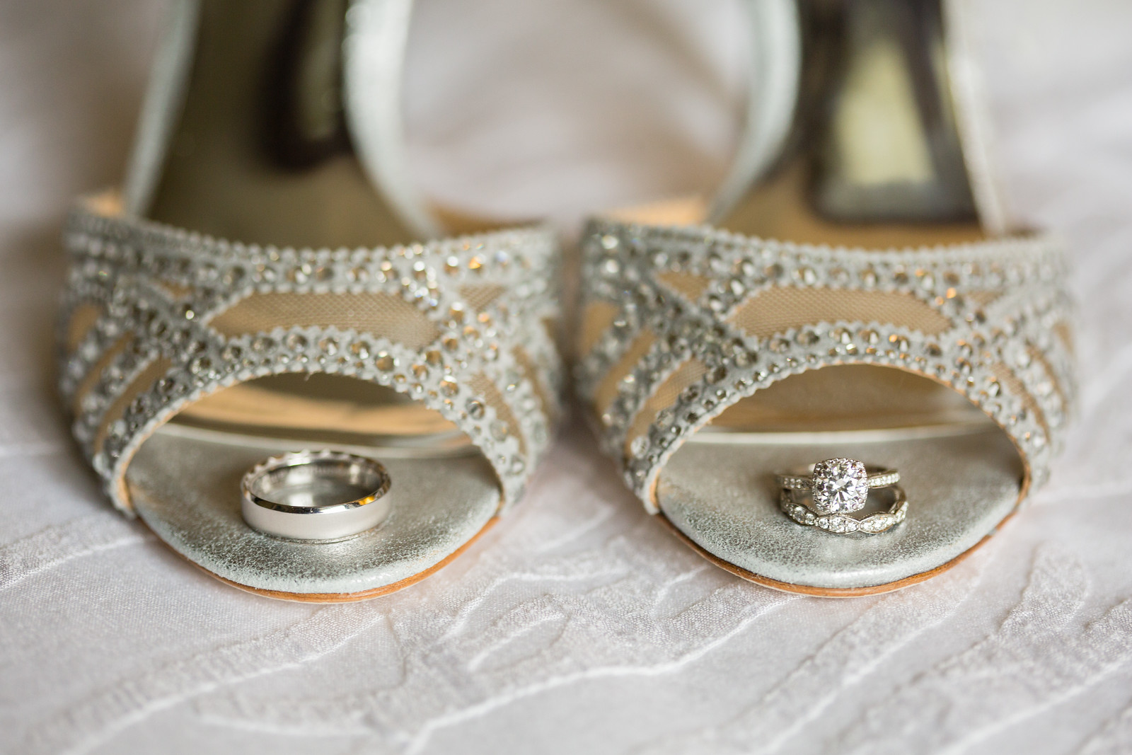 badgley mischka wedding shoes by perfect planning events