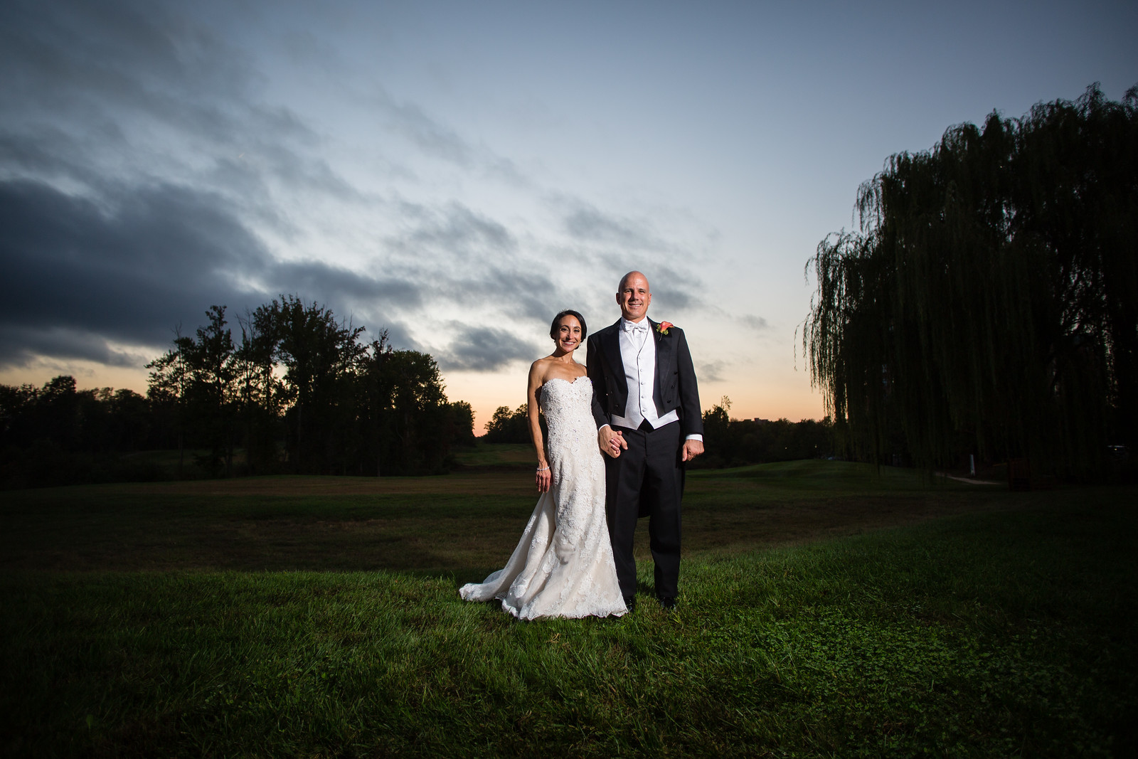 sunset photo of bride and groom weddings by perfect planning events