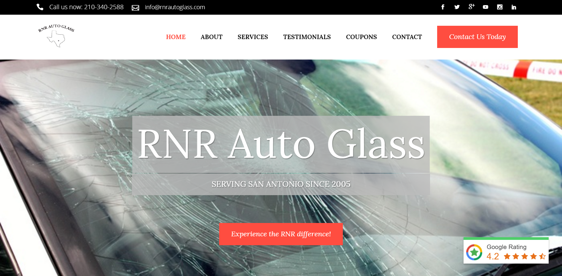 RNR Auto Glass Website Odd Duck Media