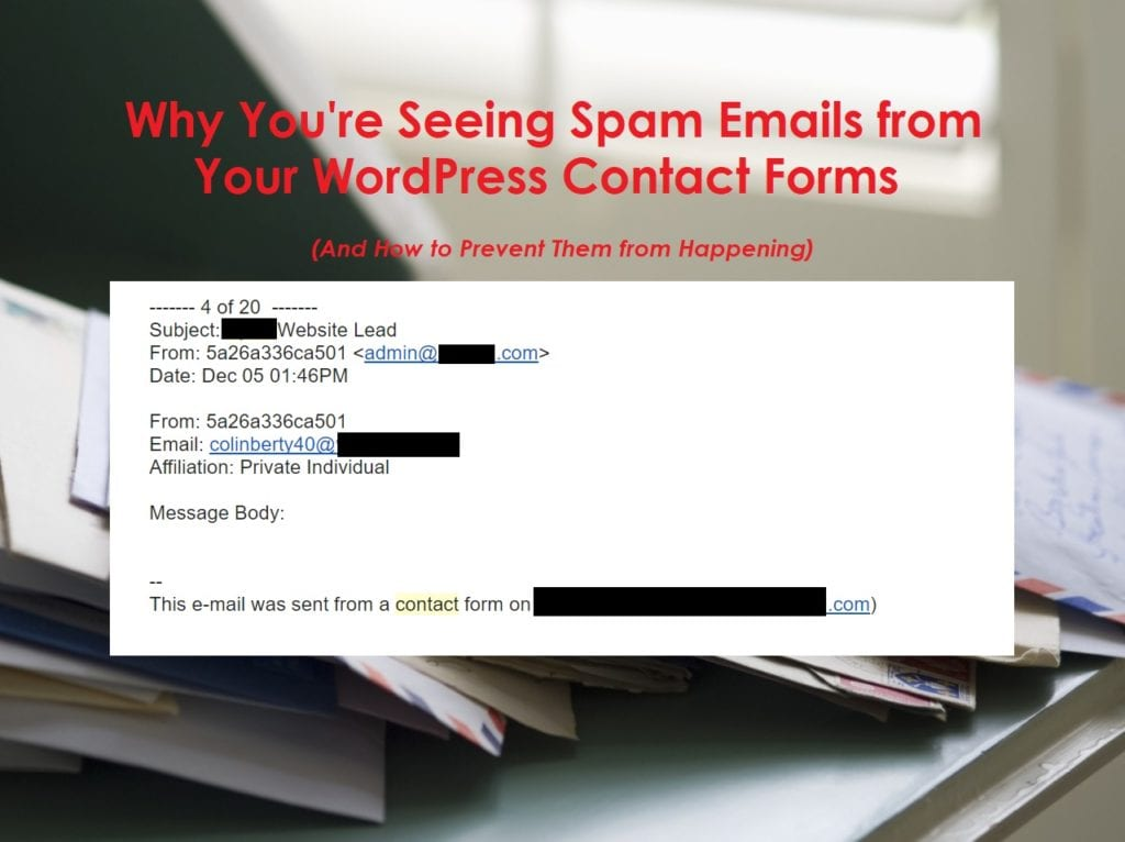 Prevent Email Spam Website San Antonio