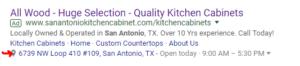 Location Extension Google Adwords San Antonio
