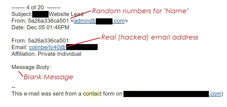 Contact Form 7 Email San Antonio