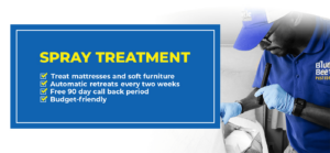 bed bug spray treatment banner - Blue Beetle Pest Control