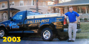 Mitch Shipman with his truck in 2003