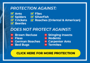 List of services included and excluded in the Basic Home Protection Program - Blue Beetle Pest Control