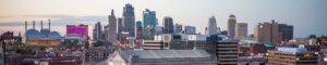 Kansas City, MO skyline at dusk - Blue Beetle Pest Control