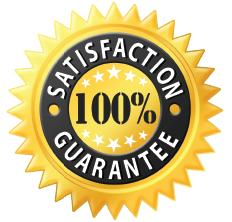 Satisfaction 100% guarantee badge - Blue Beetle Pest Control