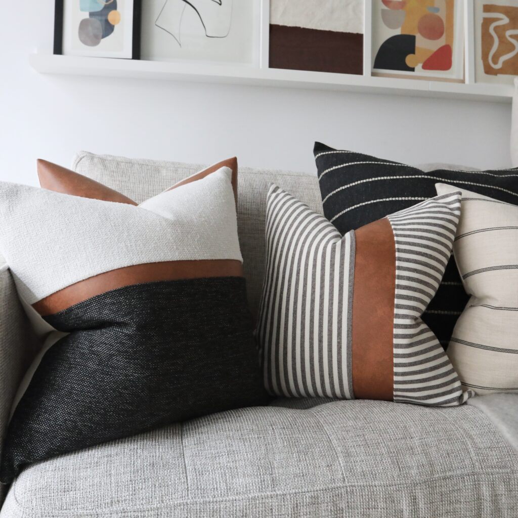 Coterie Brooklyn Pillows on Couch, Decorative Pillows, Pillow Covers,