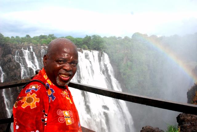 Victoria Falls w-Rainbow