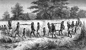 This is East African Slavery. The horrifying image I saw in 6th grade. My early exposure to the conflict between the soul and evil. Photo: Courtesy of Google images.