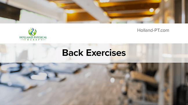 Back Strengthening Exercises Thumbnail