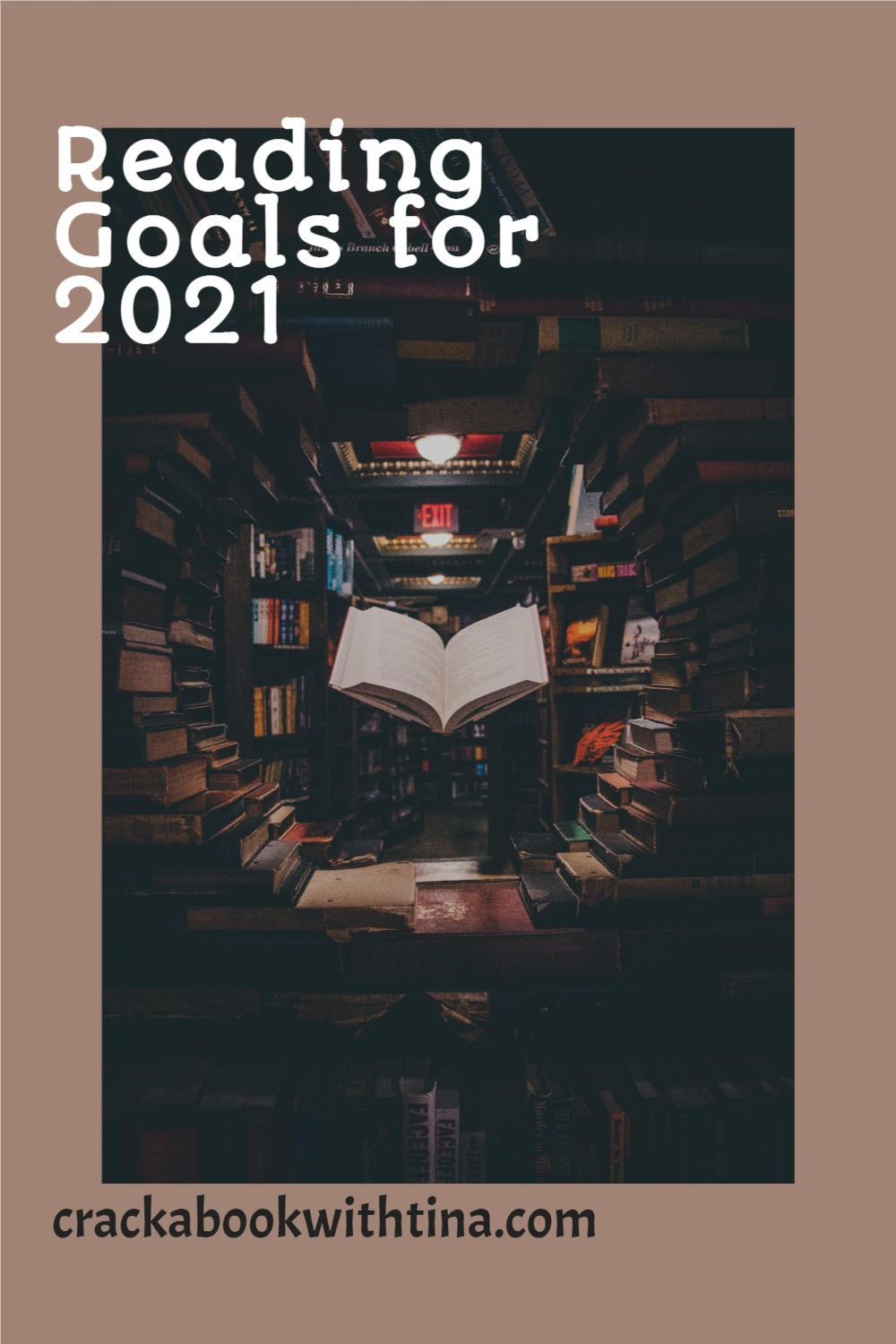 Reading Booktube/Book blog Goals for 2021