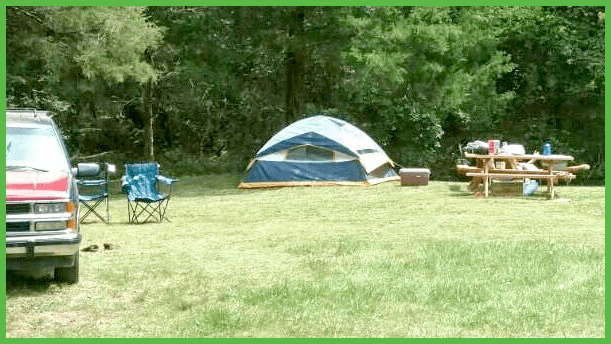 Tent Camping By the Creek at Grand View
