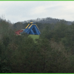 Get directions from our map, but watch for the blg blue water slide as you travel on NC Hwy 226.