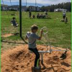 Children on Playground at Grand View Campground