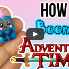 bmo from adventure time made from polymer clay is a real kawaii charm