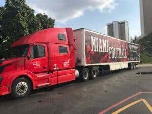 Miami Football Moving Truck
