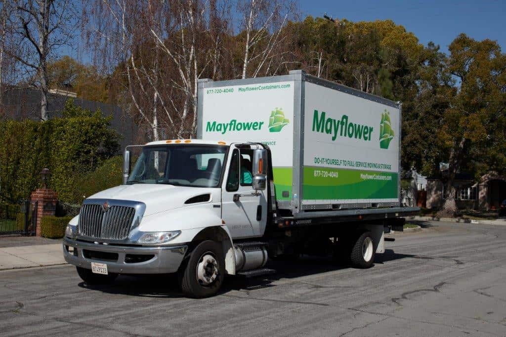 mayflower portable container being delivered