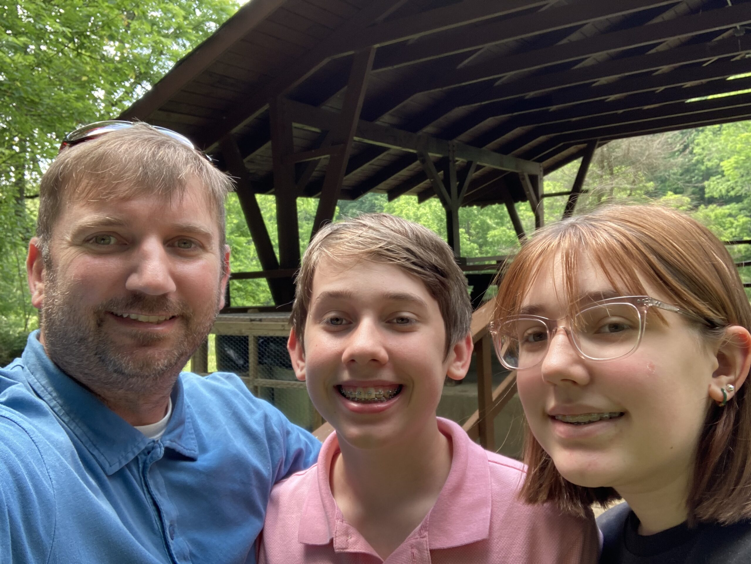 fathers day hike selfie