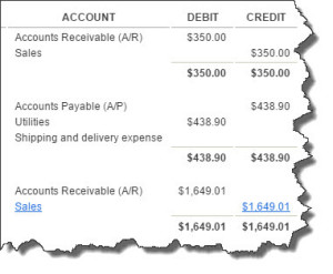 Figure 1: QuickBooks Online's Journal report displays the double-entry accounting work going on in the background. There's no need for you to ever work with debits and credits, thanks to the site's friendly, familiar user interface.