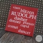 reindeer names canvas