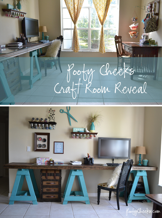 Craft Room Reveal by Poofy Cheeks