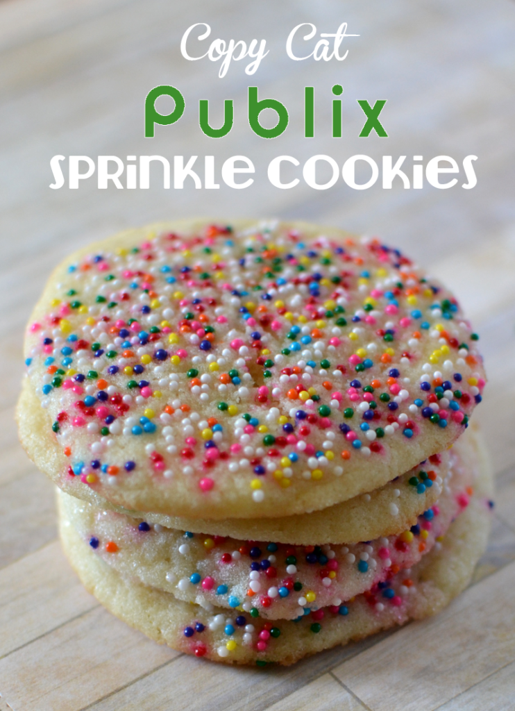 Copy Cat Publix Sprinkle Cookies - Mix them in one bowl and no refrigeration time.
