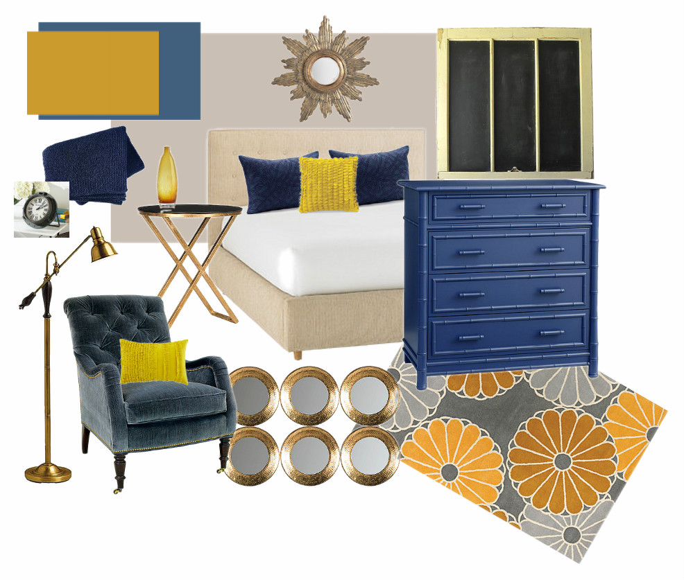 Master Bedroom Inspiration Board and Before Pictures