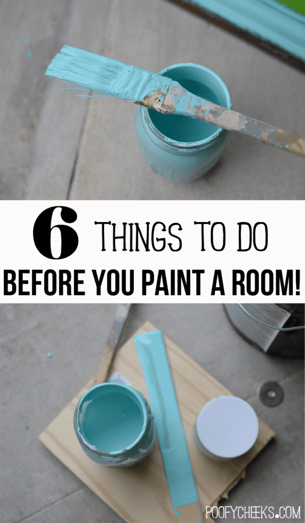 6 Things to do before you paint a room - Prepping to paint from https://poofycheeks.com