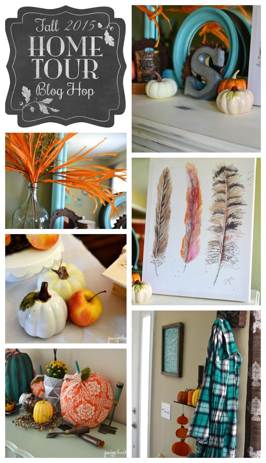 Aqua and Orange Fall Home Decor Tour