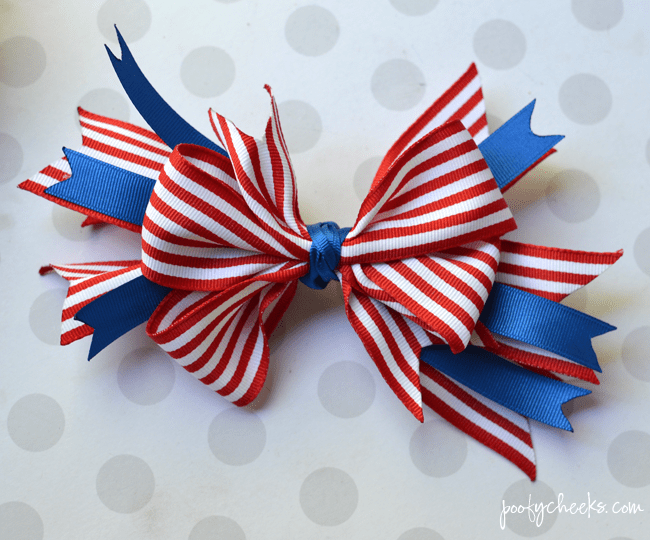 Layered boutique bow. Stop paying high prices and make your own DIY hair bows to match every little outfit.