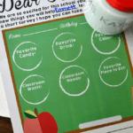 Teacher Survey Printable