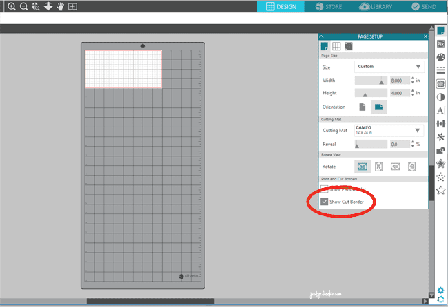 Adjusting Mat Size in Silhouette Studio