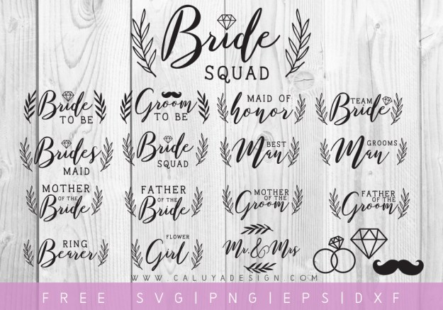 Wedding Party Cut Files