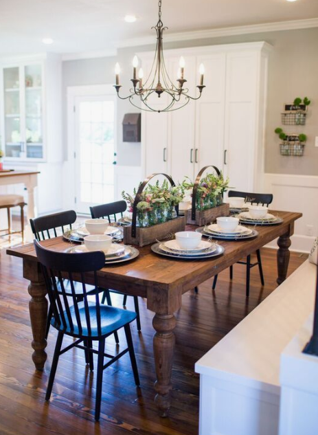 Vote on the Farmhouse Dining Room for our home. How will we finish our raw wood table?