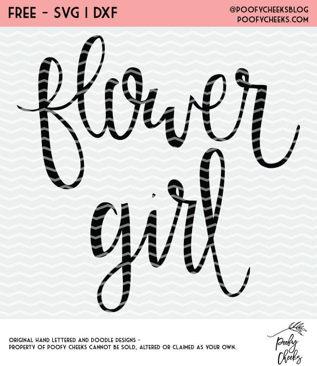 Flower Girl SVG and DXF - Free cut files for Cricut and Silhouette. Wedding cut files.